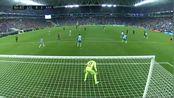 梅西传中后卫解围失误 苏亚雷斯门前推射双响