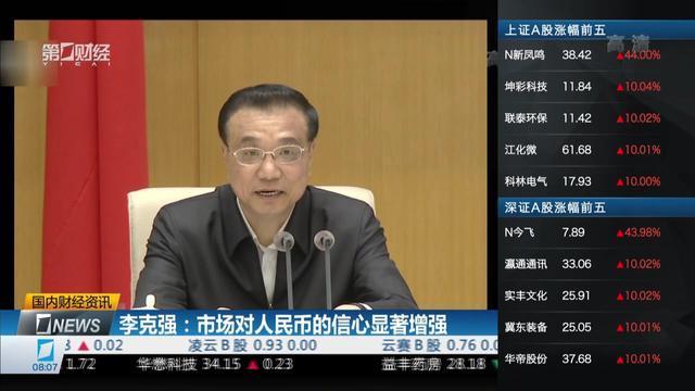 李克强:市场对人民币的信心显著增强