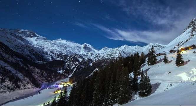 奥地利雪山延时摄影