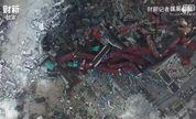 【时讯】视频航拍爆炸现场巨坑
