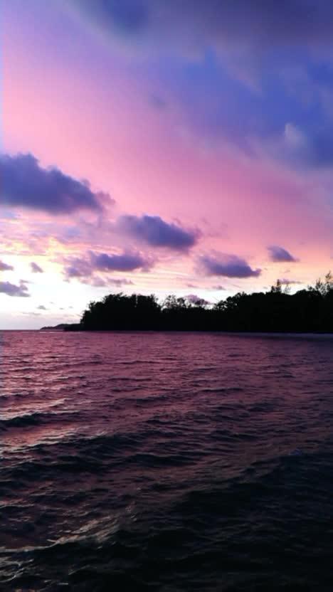 美丽的七星海看晚霞