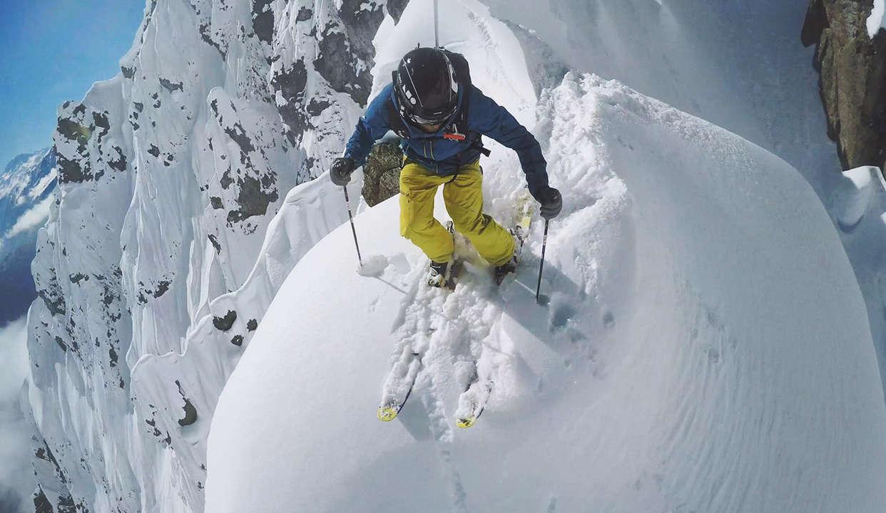 第一视角带你从雪山俯冲