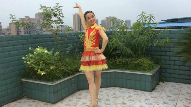 四川富顺时尚广场舞《迎酒欢歌》学跳版 编舞 美久老师