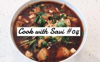 和我一起做饭丨水煮鱼丨煎饼丨Cook with Savi #4丨Savislook
