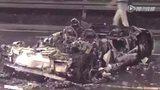 400万兰博基尼撞货车 烧成废铁