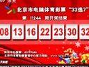 """北京市电脑体育彩票""""33选7""""第11244期开奖结果"""