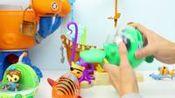 海底小纵队 呱唧虎鲨艇 双髻鱼救援玩具 海底世界 海底小纵队发声玩具