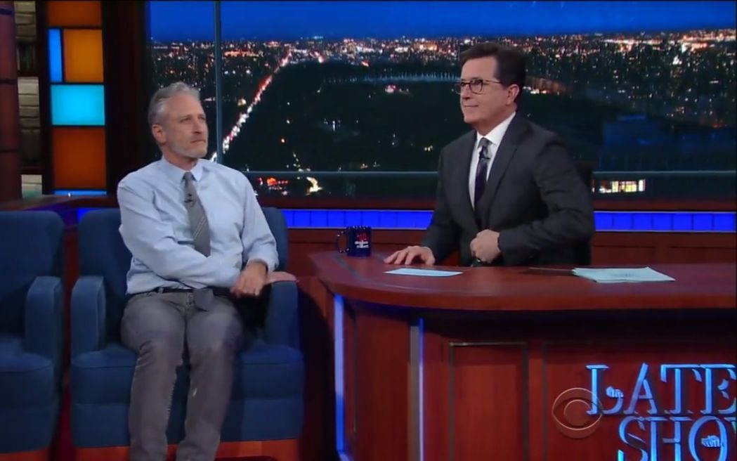 Jon Stewart Ribs Stephen For His Recent Language_x264