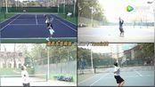 南昌乐享网球 发球训练多画面比对背视