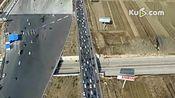 航拍:京港澳高速堵车10公里 车辆排成长龙[高清]