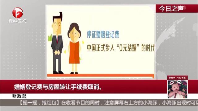财政部:婚姻登记费与房屋转让手续费取消