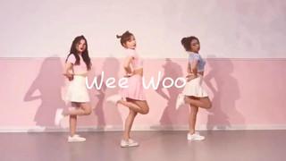 美女街边跳PRISTIN《Wee Woo》舞蹈,完整版教学视频