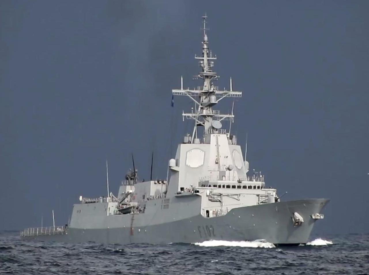 """西班牙海军"""" 胡安·德·波旁海军上将""""号宙斯盾护卫舰Almirante Juan de Borbón (F-102)"""