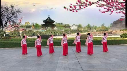 《【省三十强】 一枝梅 表演 团队版》龙岩舞燕广场舞