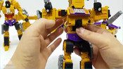 变形金刚_建设装备汽车玩具_黄锦江构造汽车机器人变身玩具卡车玩具【俊和他的玩具们_4