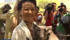 彭丽媛出席龙柏考拉园参观活动