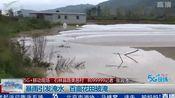 暴雨引发淹水 百亩花田被淹