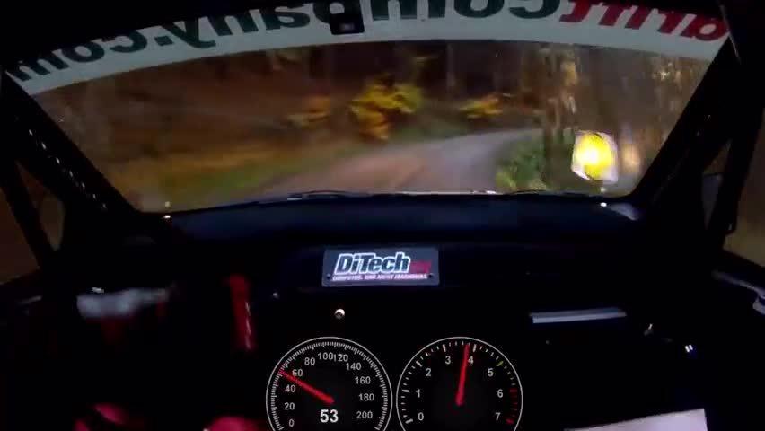 赛车拉力赛,最快时速206公里通过森林弯路,感觉很刺激