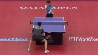 奥恰洛夫与松平健太 2016卡塔尔乒乓球公开赛