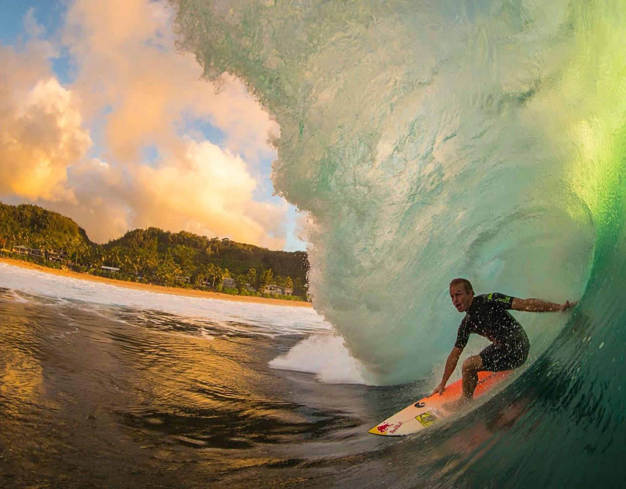 绝美的海浪初始形成的位置