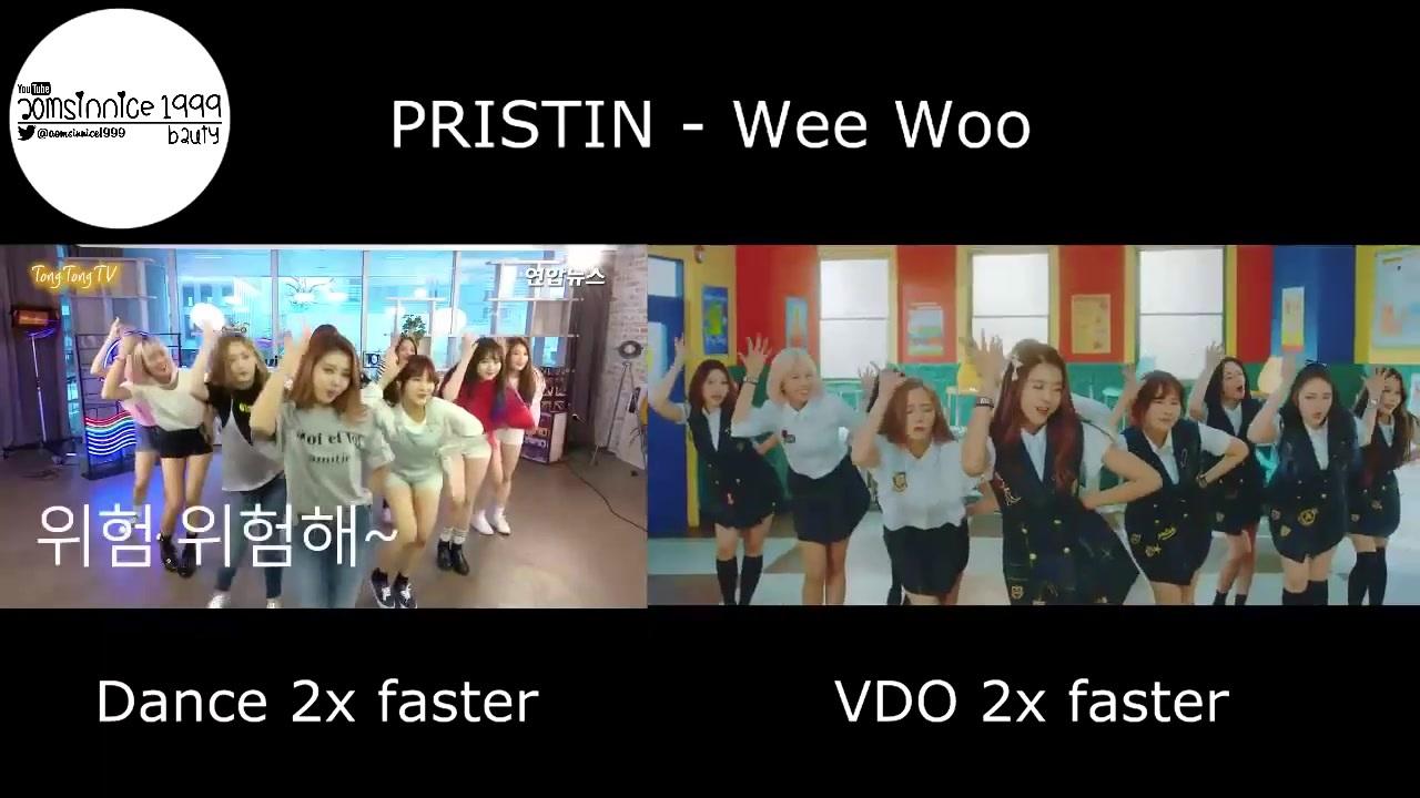 PRISTIN - Wee Woo (Dance 2倍速 & VDO 2倍速 Comparison)