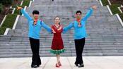 凤凰六哥广场舞《博尔塔拉我可爱的家乡》藏族舞经典动作教学