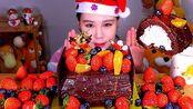【卡妹】甜点39布施诺埃可乐蛋糕吃货放送 Eating Sound(2019年12月24日14时15分)