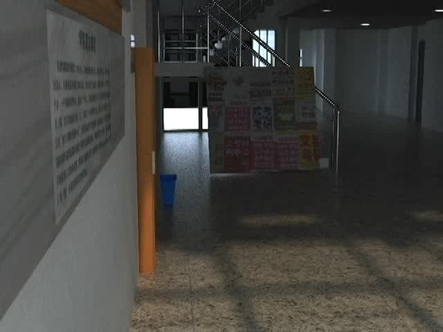 【3dmax(自制)】撸了个学校里的教学楼大厅
