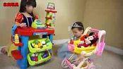 北美玩具亲子游戏  米奇妙妙屋米妮宝宝推车过家家