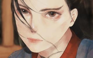 【版绘上色】画了一个眉毛浓密的女孩子