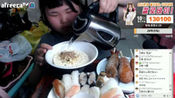 大胃王韩国胖小姐姐吃 泡面 棒棒鸡 生鱼片