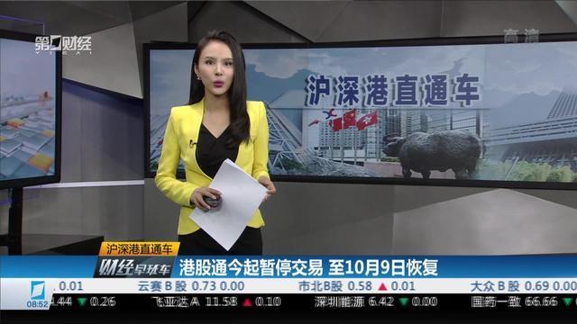 港股通今起暂停交易 至10月9日恢复