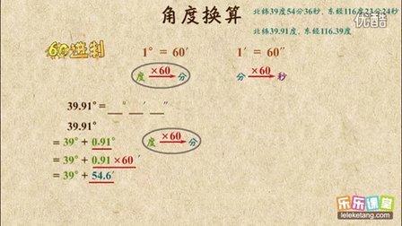 初一数学:角度换算
