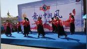北京大兴安定镇政府广场舞队演出视频(在那桃花盛开的地方)