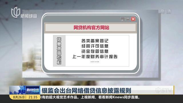 银监会出台网络借贷信息披露规则