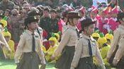 西双版纳州允景洪小学万达校区运动会开幕式二年级方阵《强军战歌》