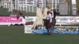 地中海秋季马术巡回赛 法国骑手哈罗德·博伊塞特又夺冠