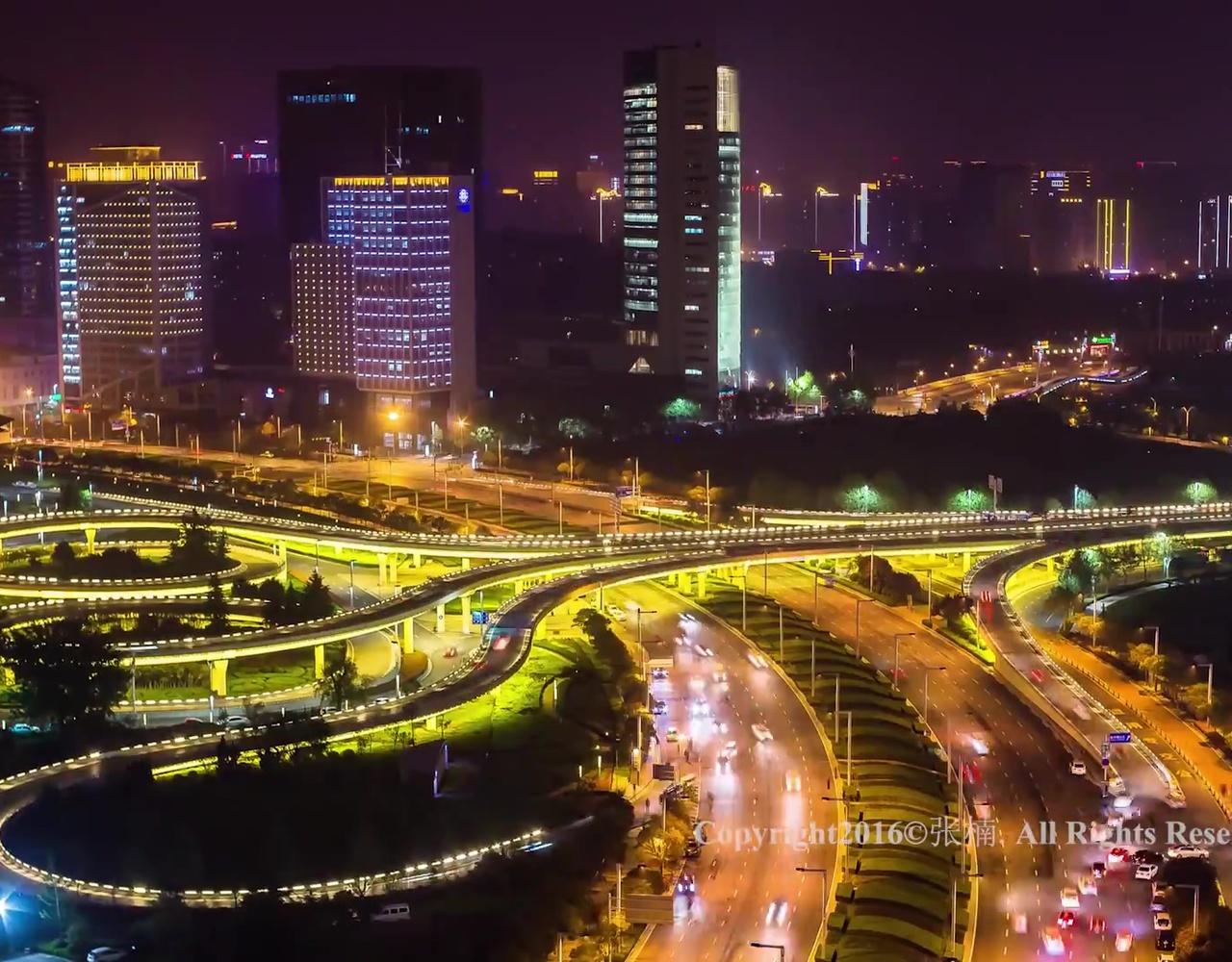 一部用延时摄影记录郑州夜景的片子——夜·郑·美