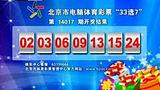 """北京市电脑体育彩票""""33选7""""第14017期开奖结果[天天体育]"""