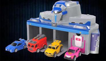 最强战士之迷你特工队智能车库玩具