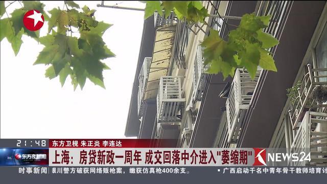 """上海:房贷新政一周年 成交回落中介进入""""萎缩期"""""""