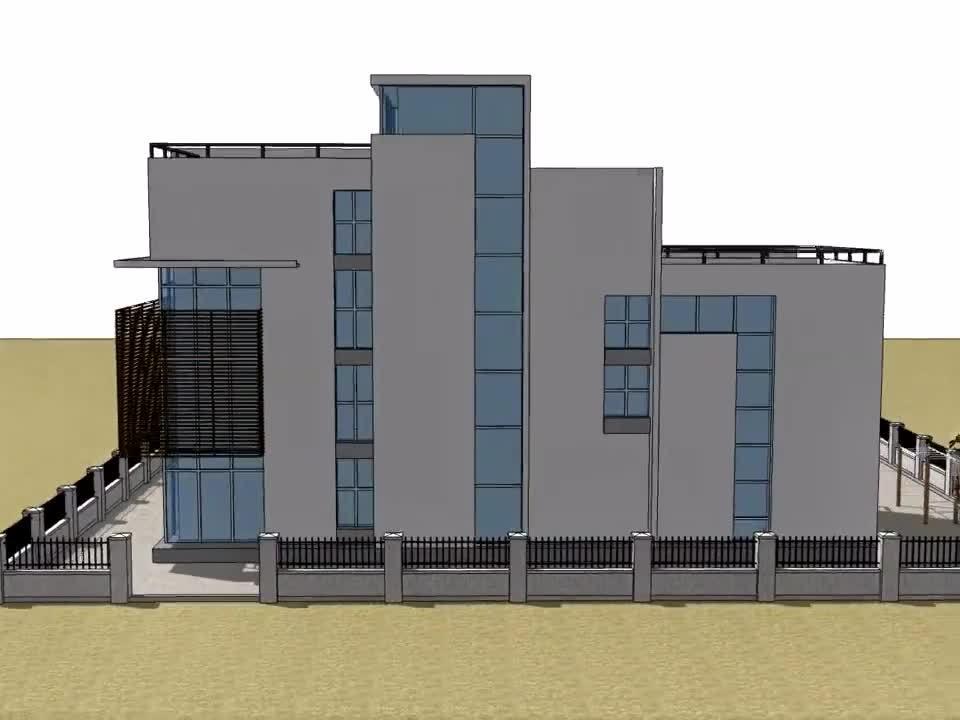 现代别墅豪宅 有点像教学楼