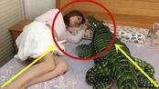 美女睡觉时,一睁睛被吓得差点魂儿都飞了,一生的噩梦!