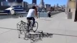 车行天下一路有你:小伙造出没有后轮的自行车,跑起来真是让人佩服