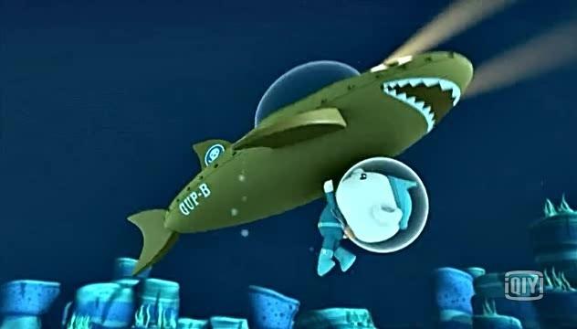 海底小纵队:飞艇被鲨鱼袭击了,真是糟糕啊