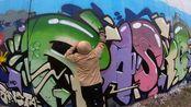 【Rasko】国外男子在墙上创作,网友:这flow太好看了!