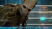 银河护卫队:树人格鲁特好奇地看着屏幕的样子,真是太可爱了