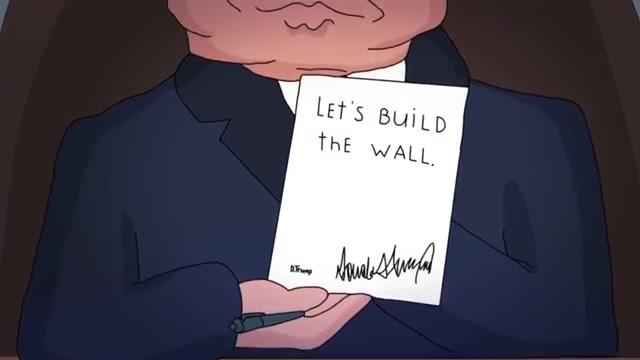 特朗普美墨边境''修长城''Строй стену как Трамп