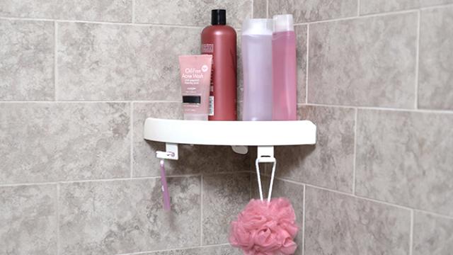 需要多一个厨浴架一定要钻孔吗?力学吸附三角架超级牢固方便又实