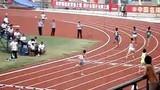 吴雨辰 四川绵阳全国中学生运动会 七项全能之一跨栏